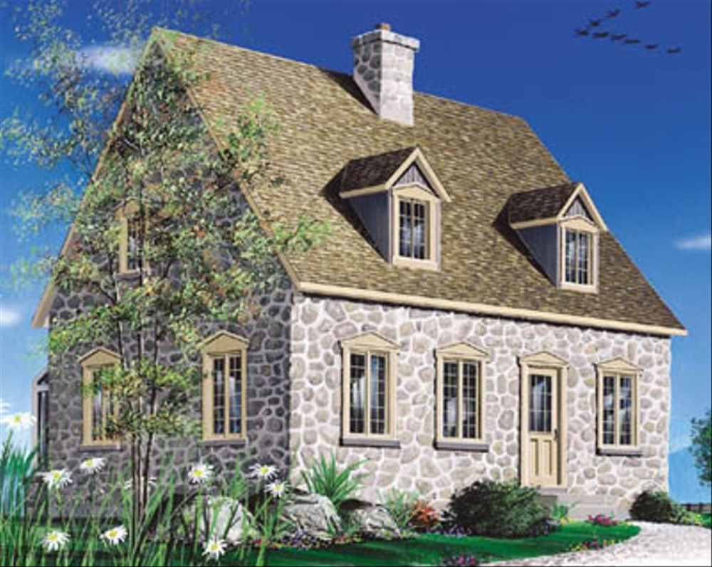Colonial Style House Plan 2 Beds 1 5 Baths 1438 Sq Ft Plan 23 2090