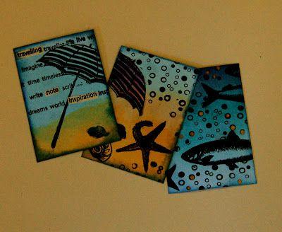 The Artistic Stamper Creative Team Blog: Seaside themed ATC folder by Zuzu.
