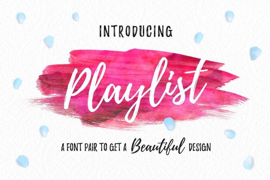 Playlist Free Font | Fonts, Ornament and Font free