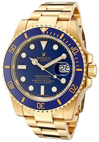 Rolex Men's Submariner Automatic Blue Dial Oyster 18k Solid Gold Rolex http://www.amazon.com/dp/B0069AICIM/ref=cm_sw_r_pi_dp_-Lwvwb1212MRY