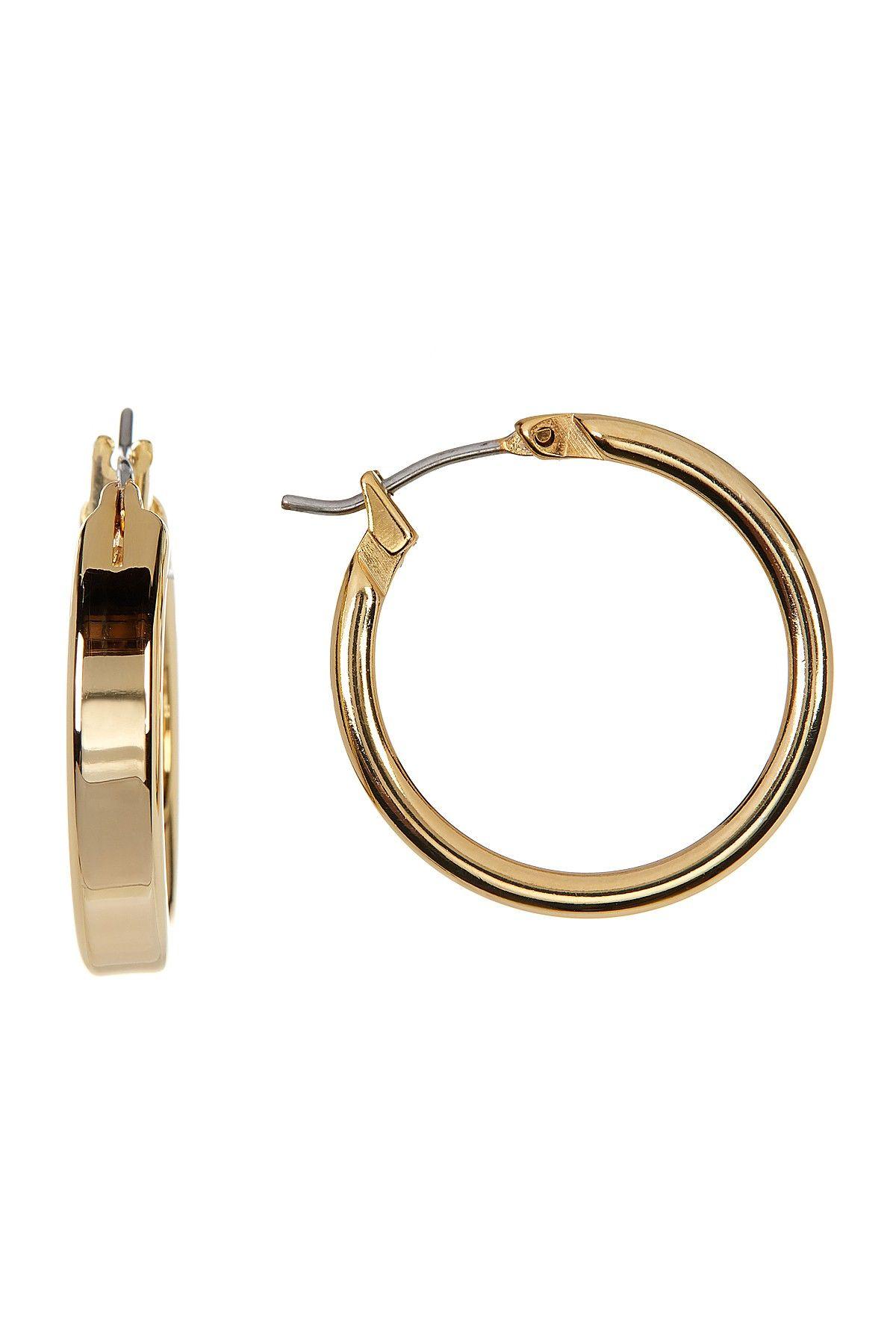 Polished Medium Hoop Earrings