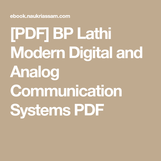 Analog Communication Textbook Pdf