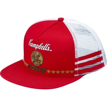 Campbell's + Supreme 5-panel snapback. Red is sold out, but other colors are still available. $40.00