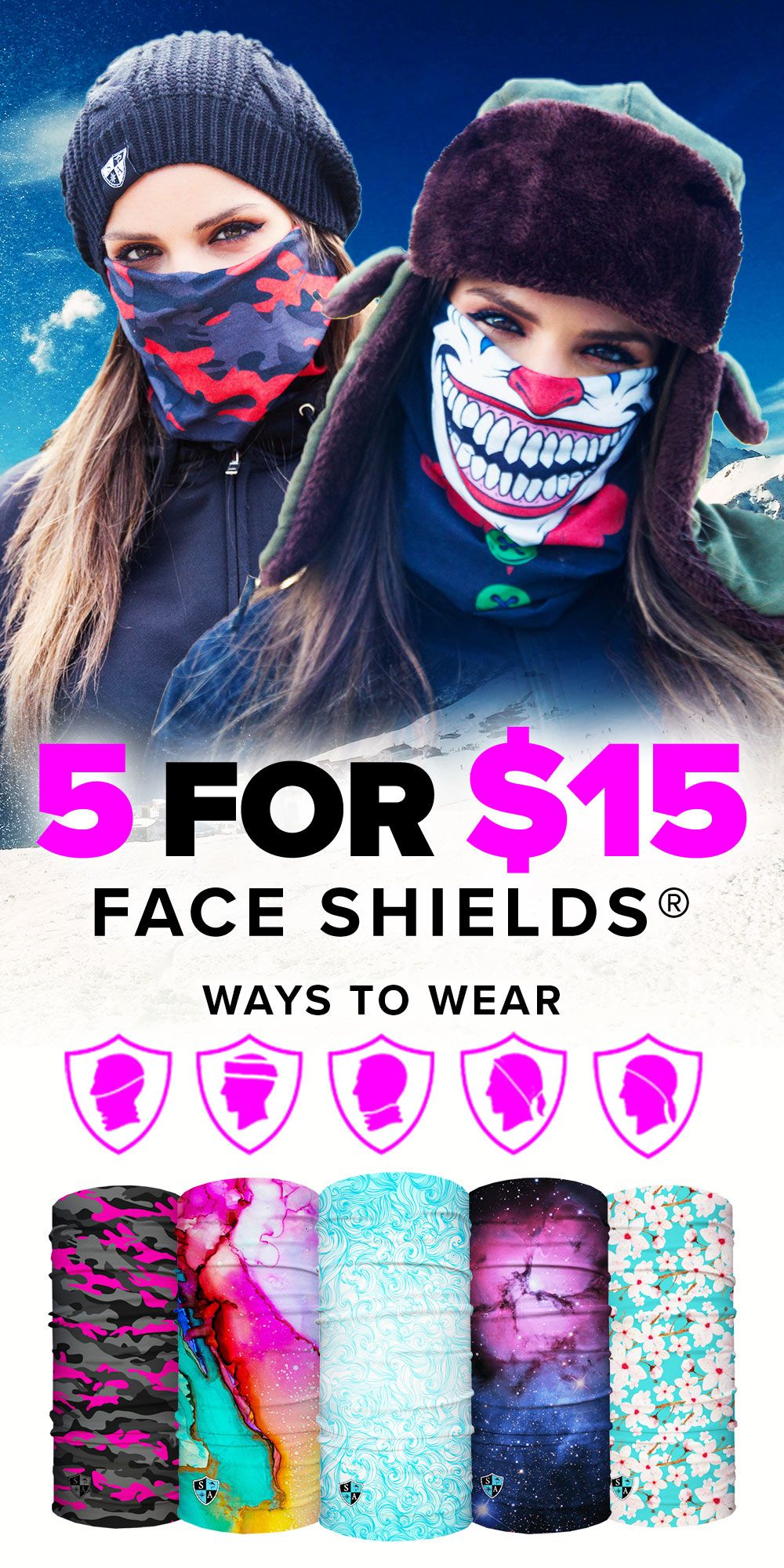 Pin on Face shield