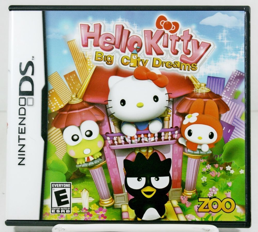 Hello Kitty Big City Dreams Nintendo Game DS Lite 2DS DSi XL