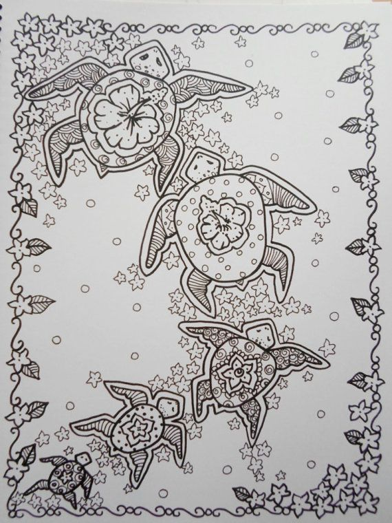COLORING BOOK Sea TuRtLEs Coloring Book You be the ARTIST Fun ...