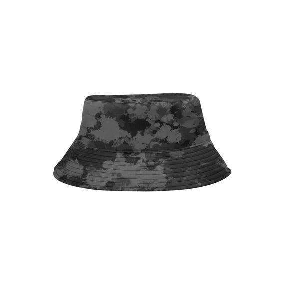 Grey and Black Paint Splatter Bucket Hat by BigTexFunkadelic, available at Etsy for under $20. #buckethats #hats #blackandgrey #camo #paintsplatter #streetstyle #urban #etsy #bigtexfunkadelic