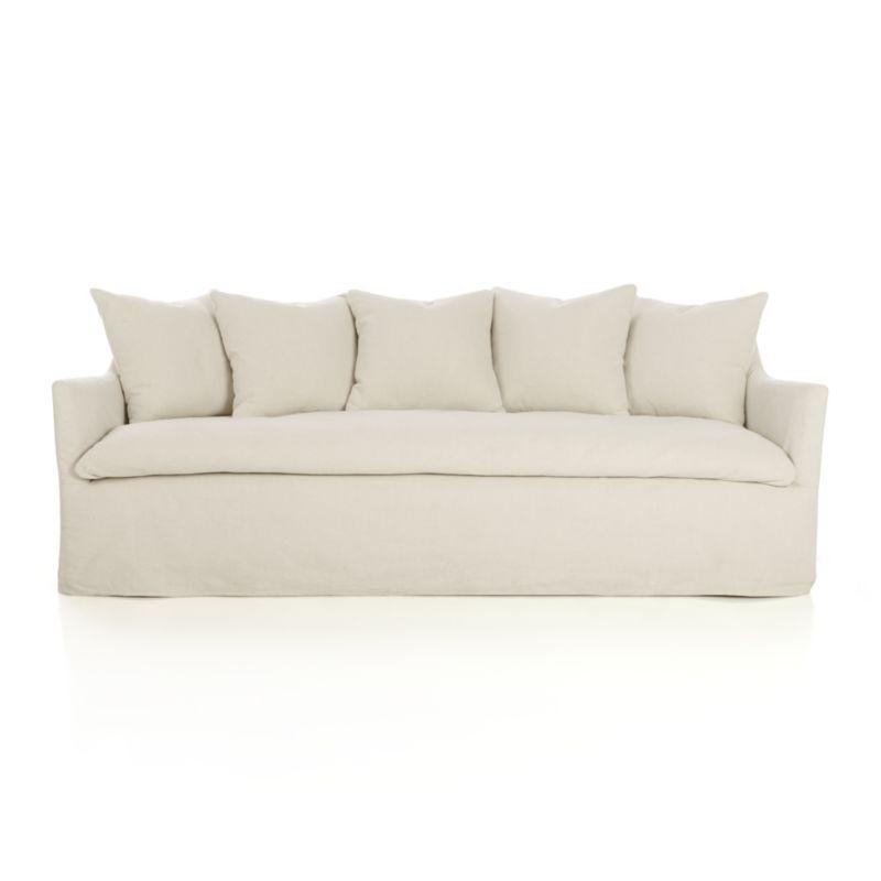 Crate Barrel Serene Slipcovered Sofa And 90 W X 41 Deep 18 High Seat Depth Is 26 2499
