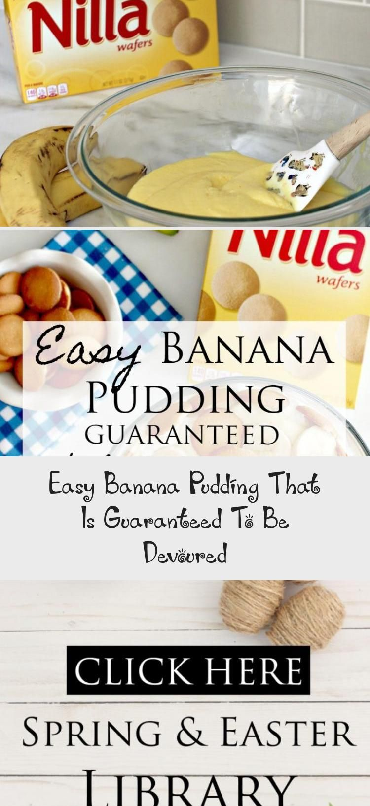 Easy Banana Pudding That Is Guaranteed To Be Devoured - Recipes For Dinner #bananapudding