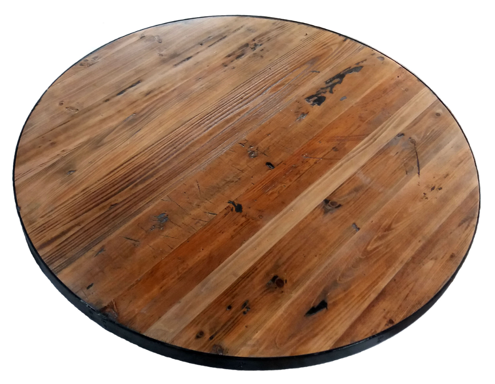 Reclaimed Wood Round Table Tops Round Wood Table Kitchen Table