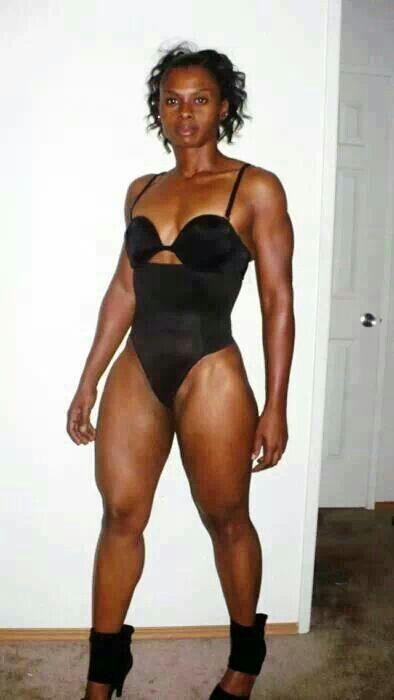 Muscular mature black women