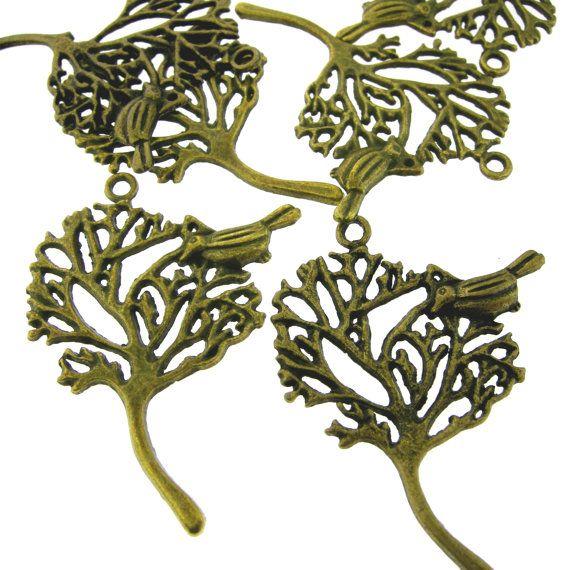12 pcs Antique Brass Bronze Alloy Leaf by FancyGemsandFindings, $3.75