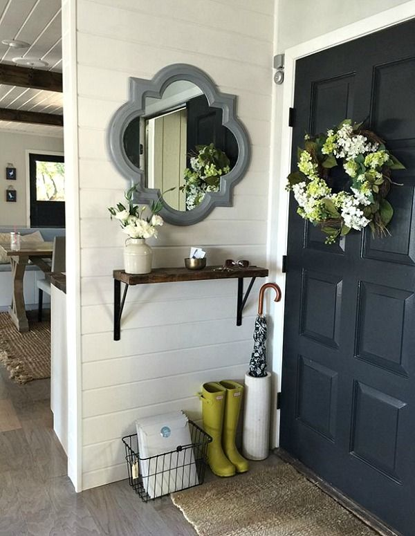 Creating An Entryway In A Small Home is part of Dream home Cozy - How to create an entryway when you don't actually have one  There are many ways to do this, and the inspiration is right here on this page