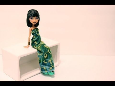 ▶ How to Make a Doll Dress - YouTube