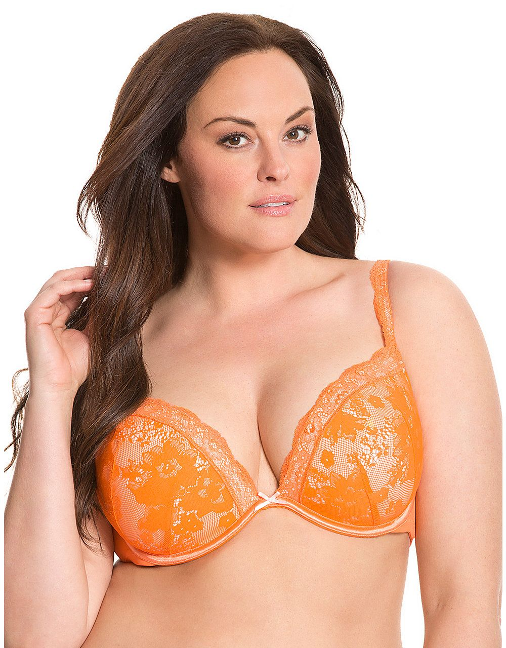 ee97203821 Bold Lace Plunge Bra by Cacique