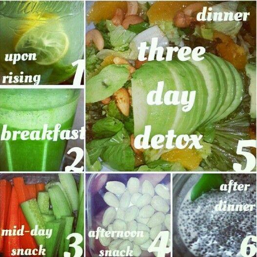 Three day detox plan. #hungryforchange #detox