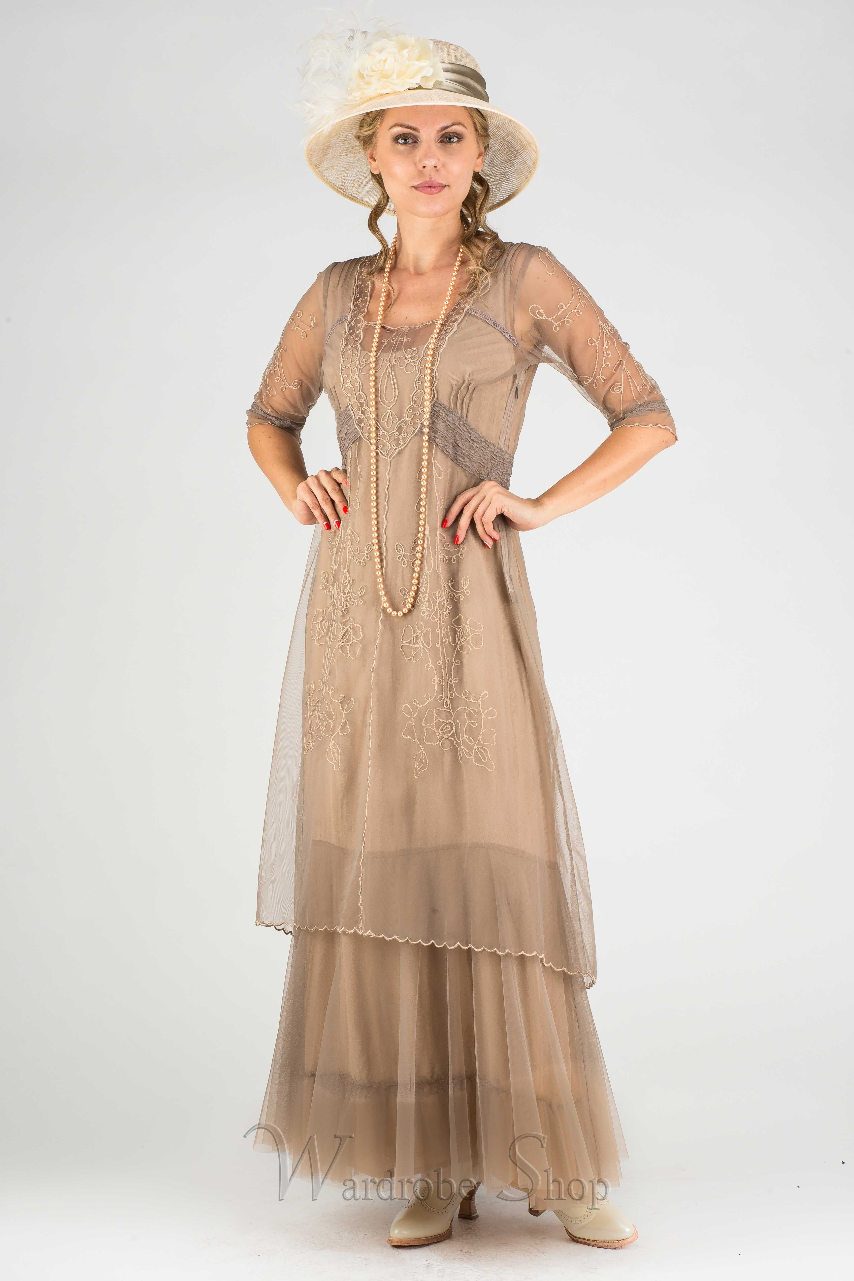 Victoria vintage style party gown in sand by nataya we love