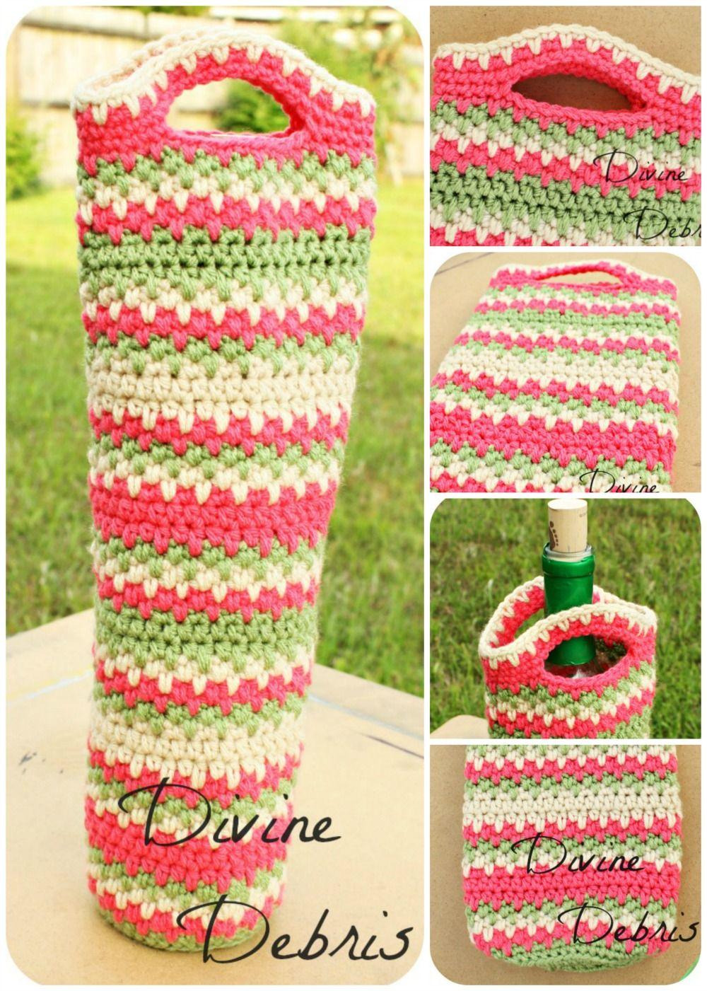 Willow Wine Bottle Cozy free crochet pattern by DivineDebris.com ...
