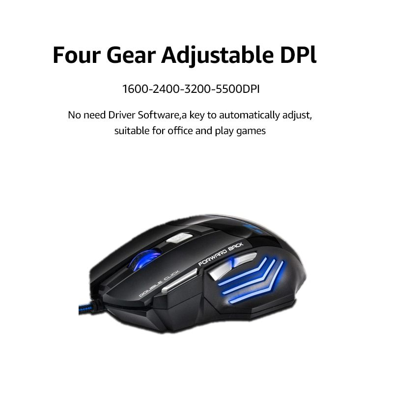 Computer Peripherals Buy Cheap Imice X7 Wired Gaming Mouse Professional 2400dpi 7 Buttons Led Optical Game Ergonomic Mouse Mice For Pc Laptop Mice