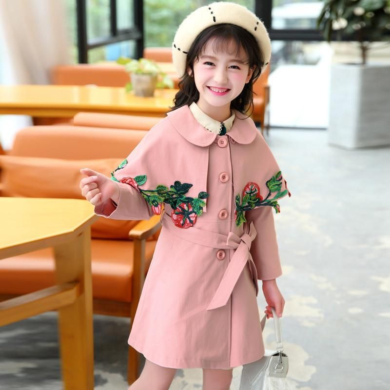 5873d4cee 2018 Spring Child Cloak Windbreaker Loose Jacket Coat Children Clothing Girl  Girls Jackets Outerwear Coats Kids