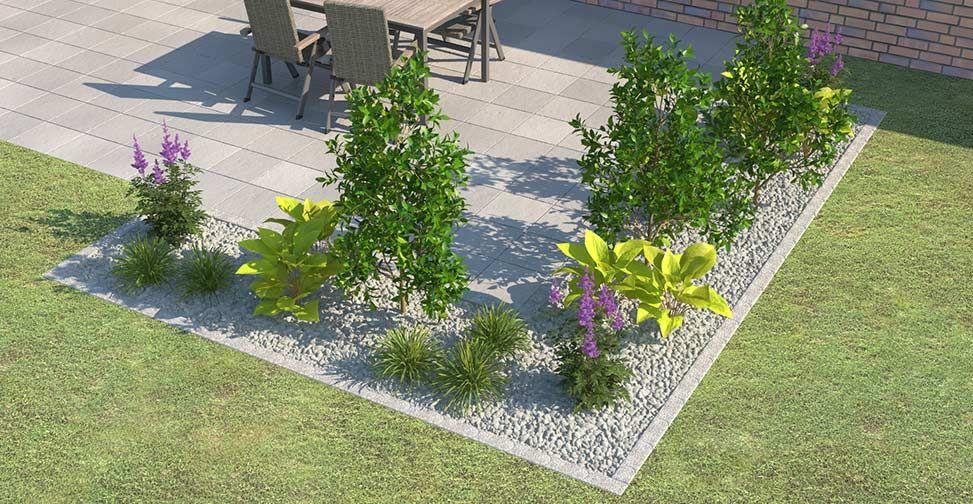 Beeteinfassung Terrassenumrandung Setzen Obi Gartenplaner Terrasse Umrandung Pflanzideen Garten