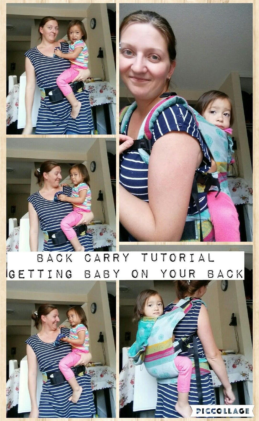 3eb48621fda Time for a back carry. Babywearing tutorial on hip scoot