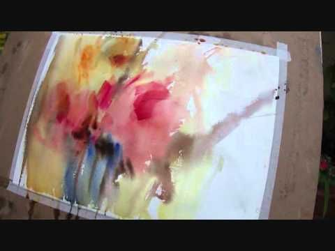 Peinture Gestuelle Intuitive Intuitive Action Painting Youtube