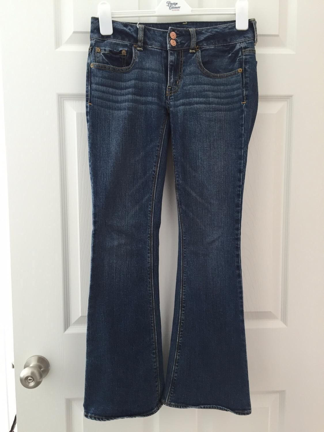 For Sale: GREAT JEANS FROM AMERICAN EAGLE! - Medium blue color. In top condition. Size 0-2