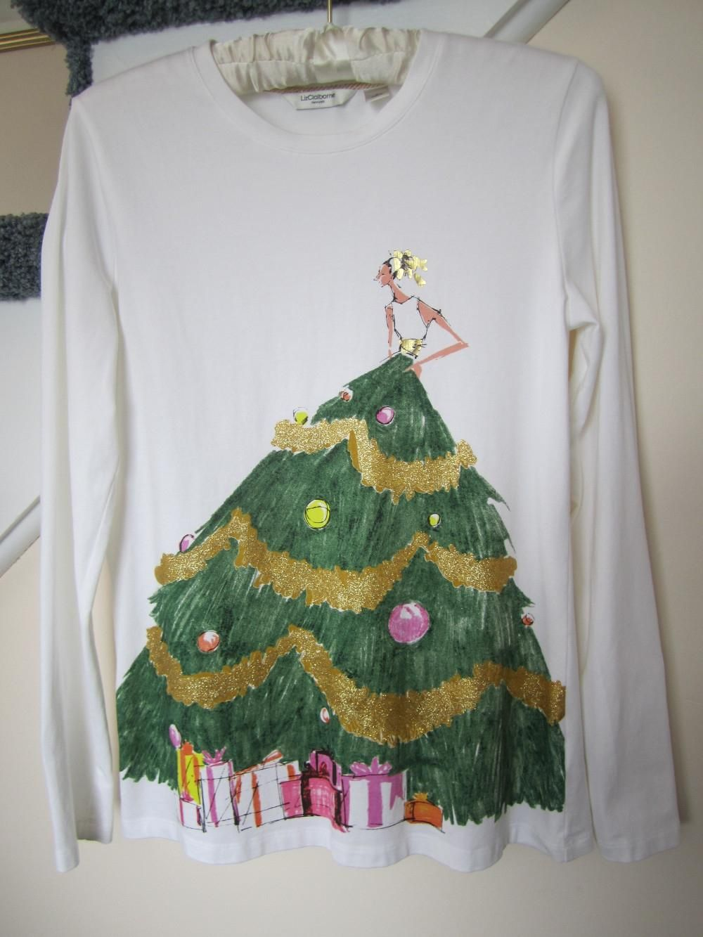 a1916ccf Liz Claiborne Christmas Tree Motif Tunic. Free shipping and guaranteed  authenticity on Liz Claiborne Christmas Tree Motif TunicNew, without tags  and never ...
