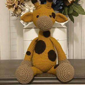 Crochet Giraffe PATTERN Amigurumi giraffe pattern pdf tutorial - DOLORES the Giraffe