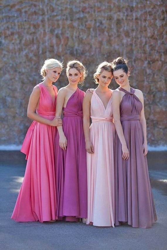45 Mismatched Convertible Bridesmaid Dresses | Boda