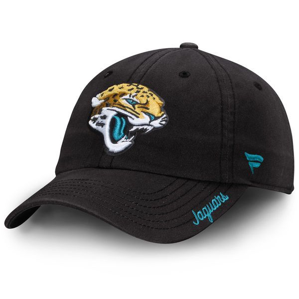 992f5118f43b9 Jacksonville Jaguars NFL Pro Line Women s Fundamental Adjustable Hat -  Black -  19.99