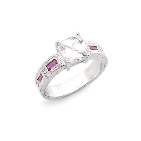 Gwen's Ruby Engagement Ring - $15.95 on sale through 1/14! #jewelry #wedding #engagement