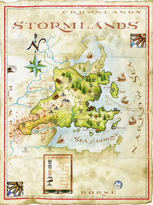 The World Of Ice And Fire Map Of The Stormlands Twoiaf Artist