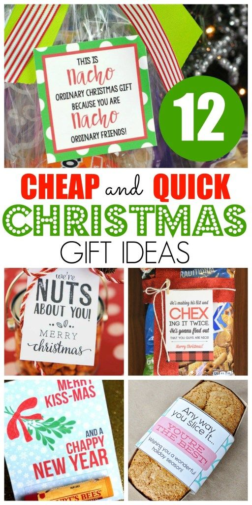 12 Cheap and Quick Christmas Gift Ideas - Happy Home Fairy #cheapgiftideas