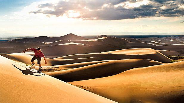 Sandboarding and Sand Sledding - Great Sand Dunes National Park ...