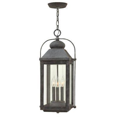 Hinkley Lighting Anchorage 3 Light Outdoor Hanging Lantern Finish