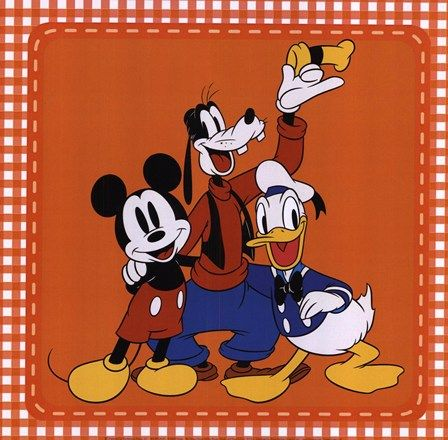 The Classic Gang Mickey Mouse Goofy And Donald Duck By Walt Disney Mickey Mouse Pictures Mickey Mouse Mickey Mouse Art