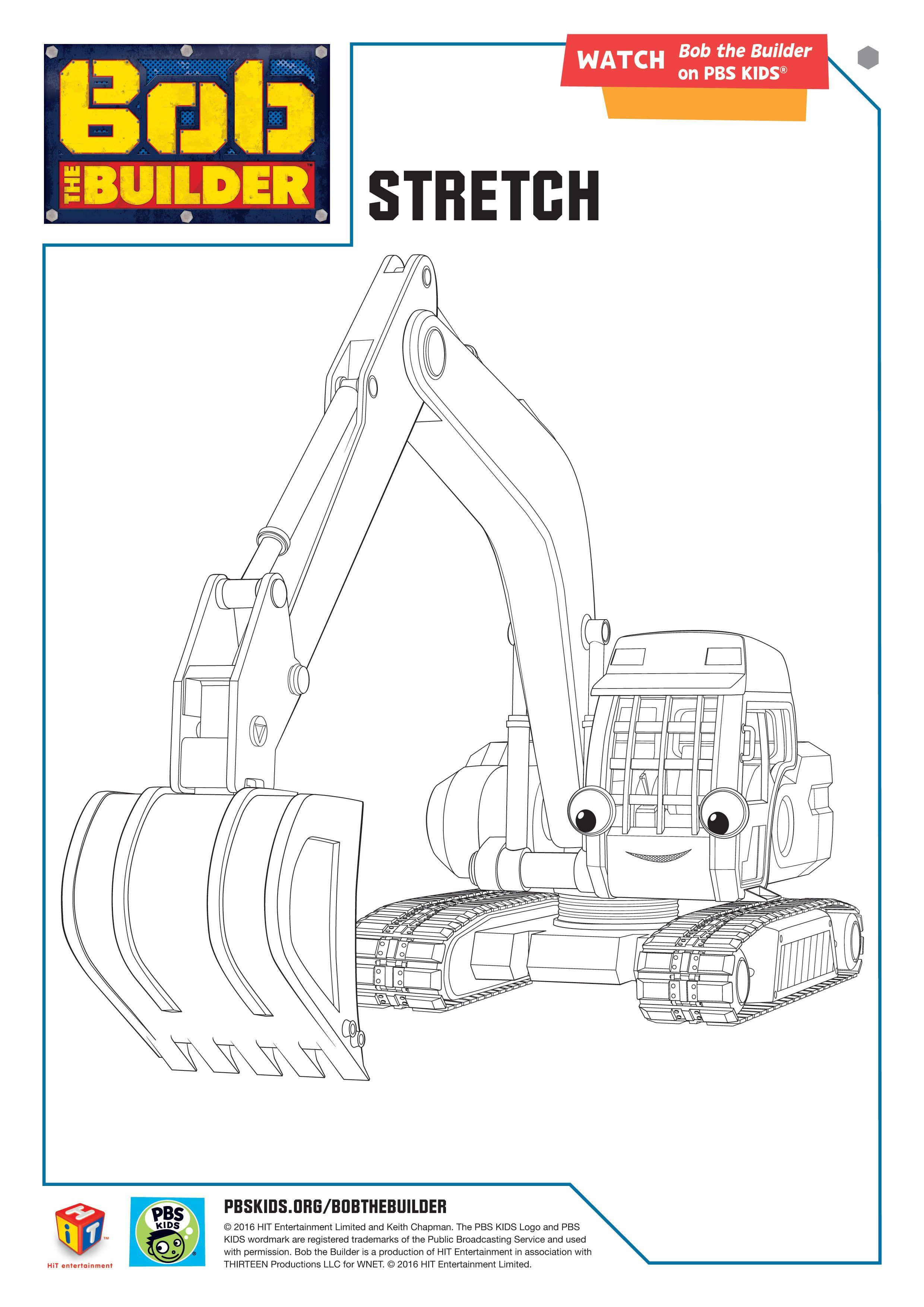 Bob the Builder coloring page: Stretch #BobtheBuilder #PBSKids ...