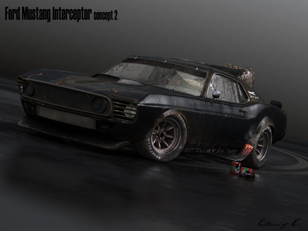 My second concept of my mad max inspired mustang theme this time