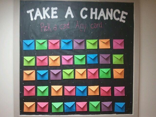 Take a Chance Bulletin Board