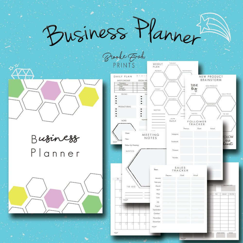 Small Business Planner Productivity Planner Business Organizer