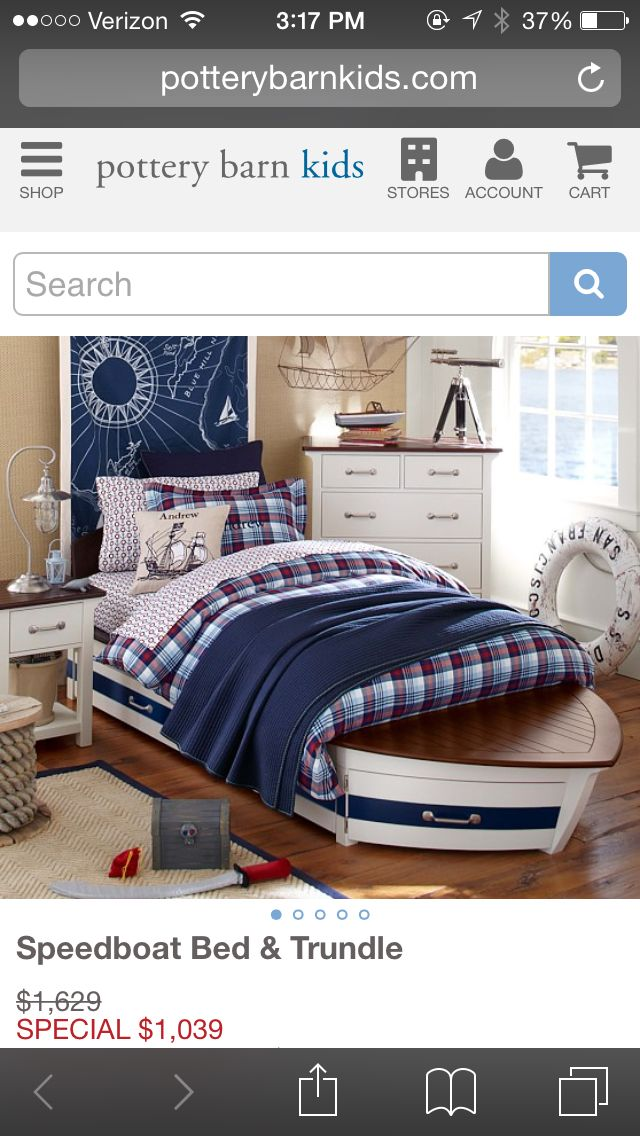 Pottery Barn Kids Bed Kid Beds Speedboat Bed Boat Bed