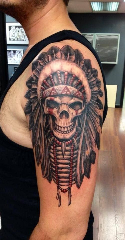 befef730c 76 Crazy Skull Tattoos Designs | Tattoos | Indian skull tattoos ...