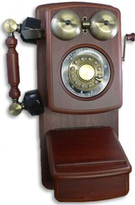 Mahogany Antique Wooden Wall Telephone Antique Wall Telephones