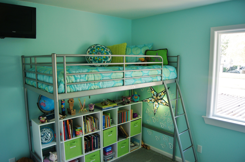 Ikea loft bed cut down shorter target cubes for organization target bedding - Structure futon ikea ...
