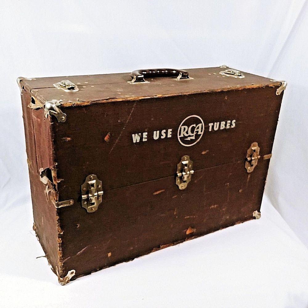 Vintage RCA Service Tube Box Carrier TV Radio Repair
