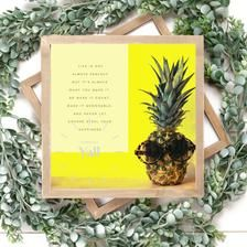 Life is not perfect quote. Digital Download. Pineapple ...