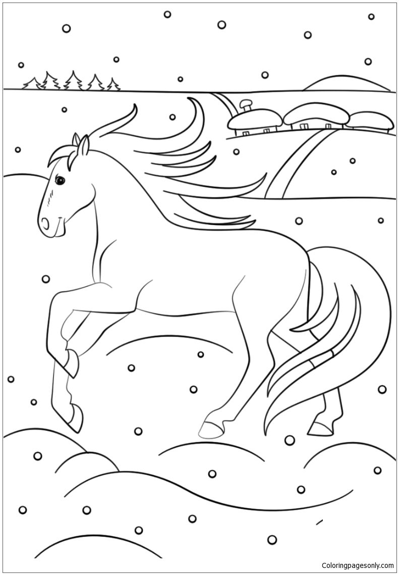 Winter Horse Coloring Page This Winter Coloring Page Features A Picture Of Winter Horse To Color T Horse Coloring Pages Coloring Pages Winter Horse Coloring [ 1139 x 791 Pixel ]