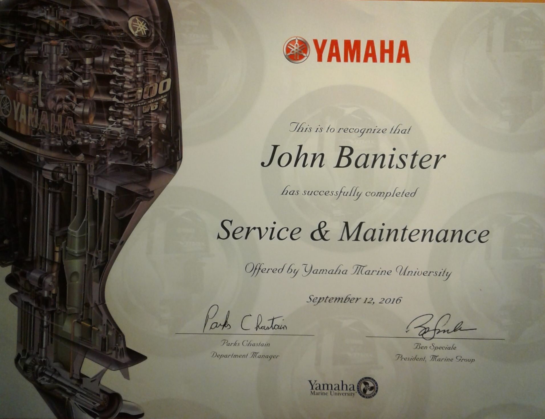 completed yamaha school in kennesaw  georgia  service and